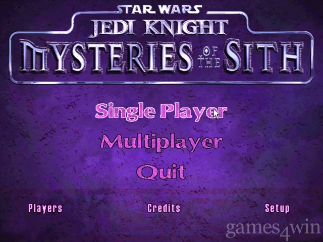 Star Wars Jedi Knight: Mysteries of The Sith 1