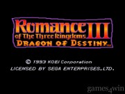 Romance Of The Three Kingdoms 3: Dragon Of Destiny 1