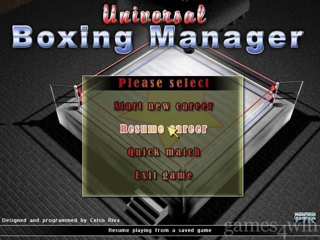 Universal Boxing Manager 1